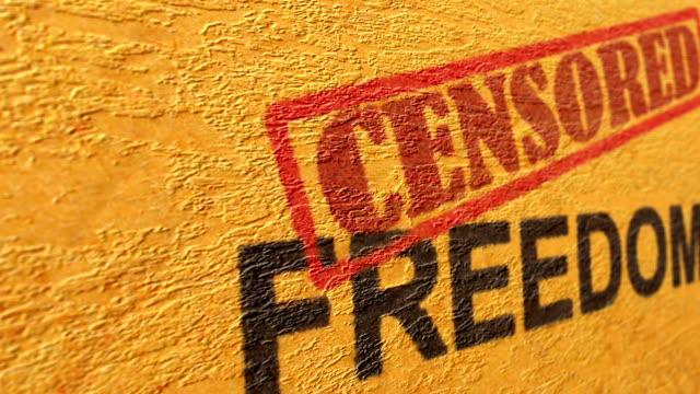 censored freedom grunge concept - censura video stock e b–roll