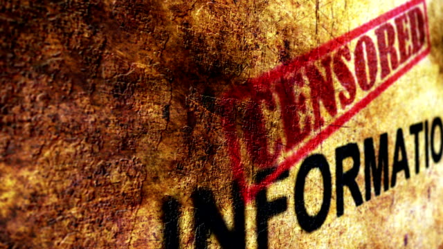censored information grunge concept - politica e governo video stock e b–roll