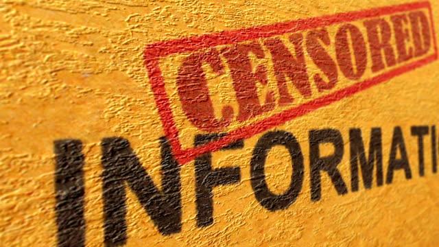 censored information grunge concept - censura video stock e b–roll