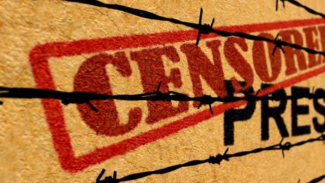censored press concept - censura video stock e b–roll