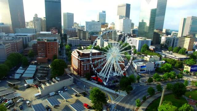 Centennial Park di Atlanta Georgia video di vedute aeree - video