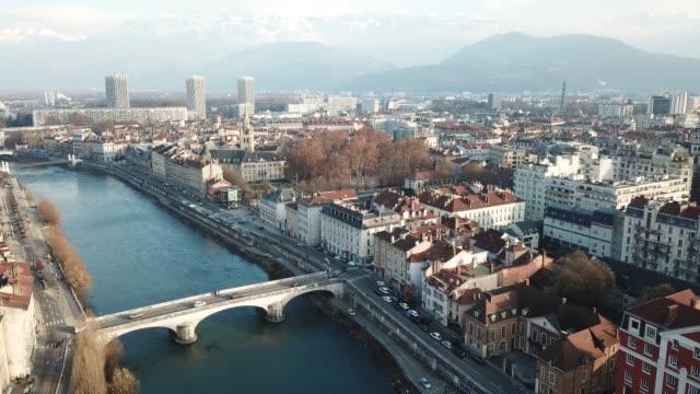 centrum en dijk van Grenoble video