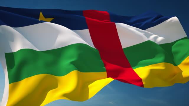 4 K Zentralafrikanische Republik Flagge-Schleifen einsetzbar – Video