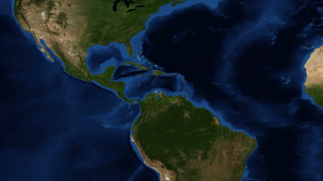 Central America - Earth from space video