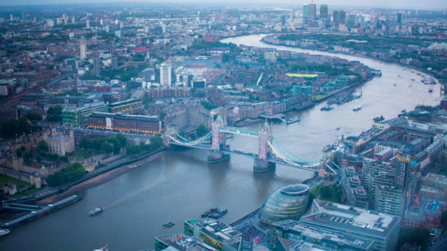 central London time lapse aerial view video