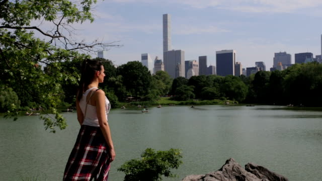 Central Park New York lake chillin video