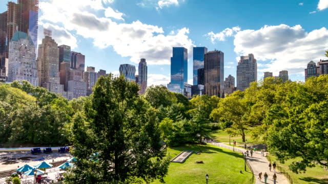 Central Park Scenic beautiful scenic of Central Park with camera tilt central park manhattan stock videos & royalty-free footage