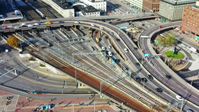 Central Stockholm Highway seen from above