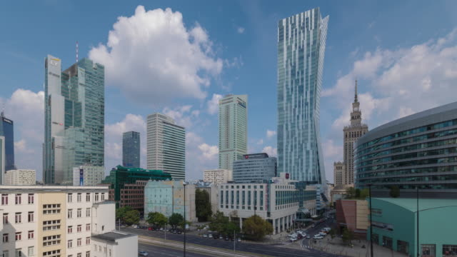 central warsaw - polonia video stock e b–roll