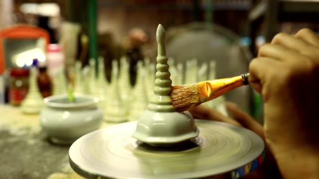 ceramic hand craft process making