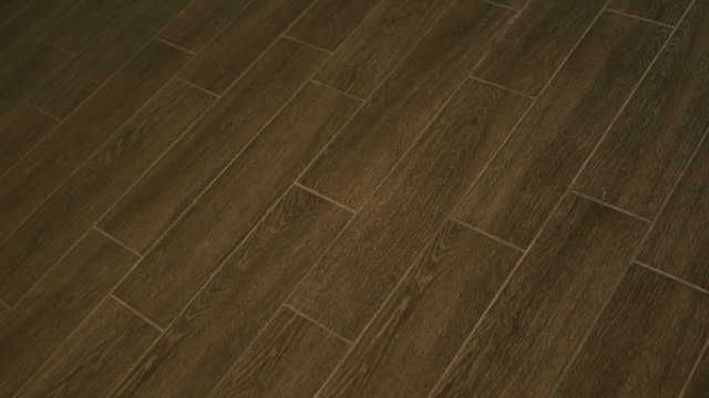 ceramic or porcelain floor tiles wood style - porcellana video stock e b–roll