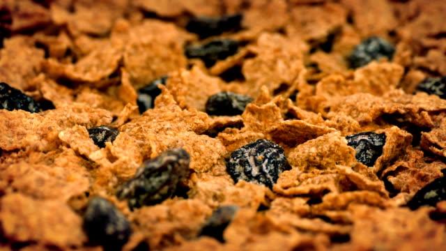 Cereal Flakes And Raisins Rotating