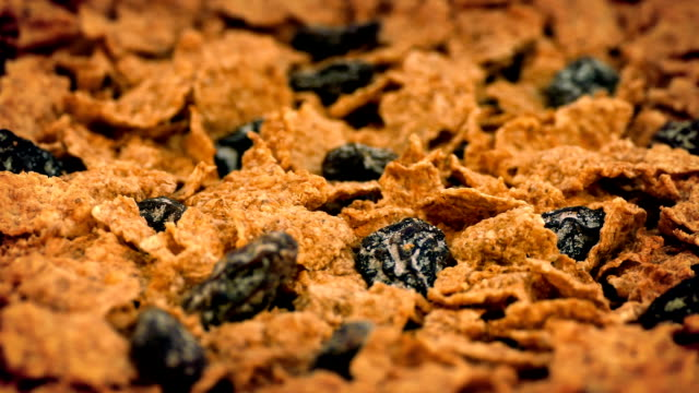 Cereal Flakes And Raisins Rotating Toasted cereal flakes and raisins rotating cereal stock videos & royalty-free footage