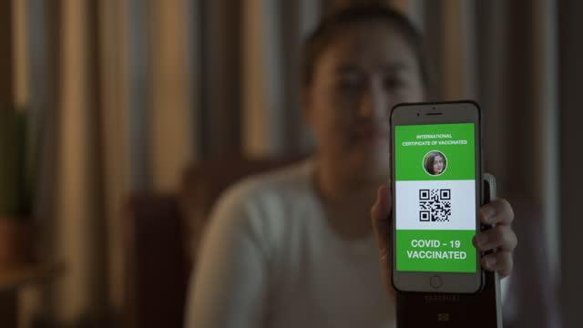 Certificate Digital Vaccine Passport on Mobile Phone video