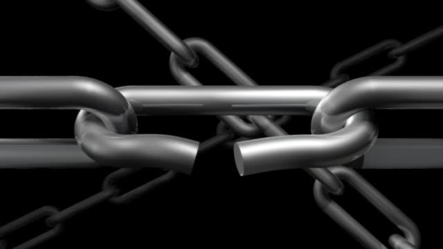 chain 01 weak link snaps - chain studio bildbanksvideor och videomaterial från bakom kulisserna