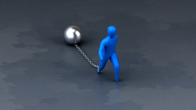 Chain and ball - 3D Animation video