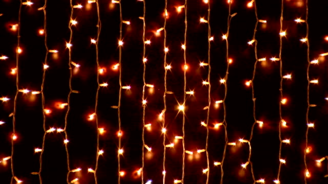 HD: chain of lights chain of lights christmas lights stock videos & royalty-free footage