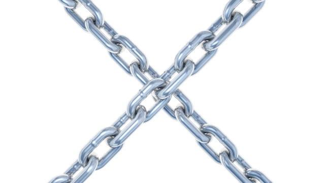 チェーンスライド・回転ループ(2 バージョン、アルファチャンネル) - 鎖の輪点の映像素材/bロール