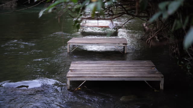 A chair on the river