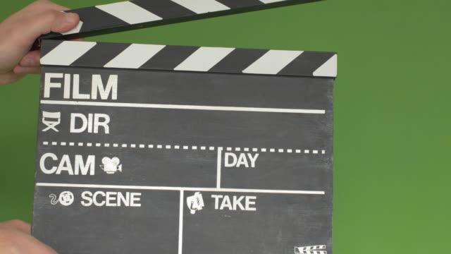 Chalkboard film slate greenscreen video