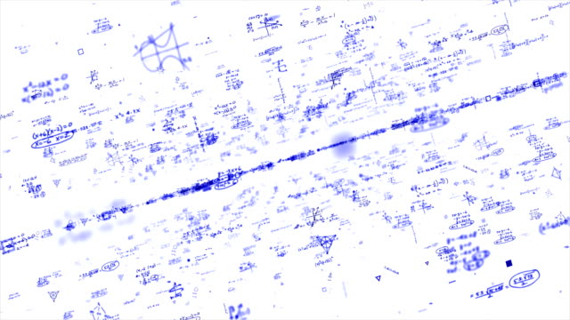 vídeos de stock e filmes b-roll de chalkboard - science, math, chemistry equations - génio conceito