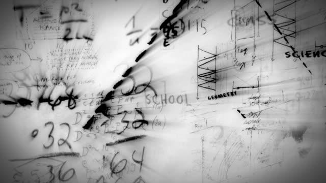 黒板(ホワイト) - 数学の授業点の映像素材/bロール