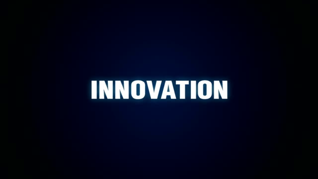 Desafío oportunidad, Creative, mejora, éxito, animación de texto'INNOVATION' - vídeo