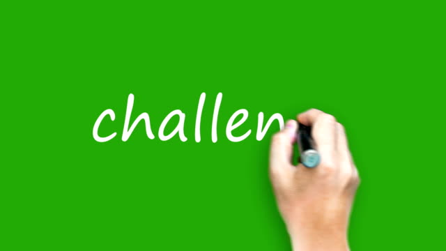 Challenge  - Writing with marker on green screen