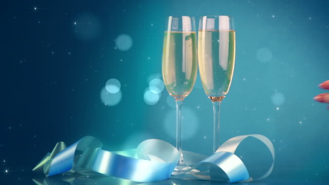 champagne celebration - treedeo stock videos & royalty-free footage