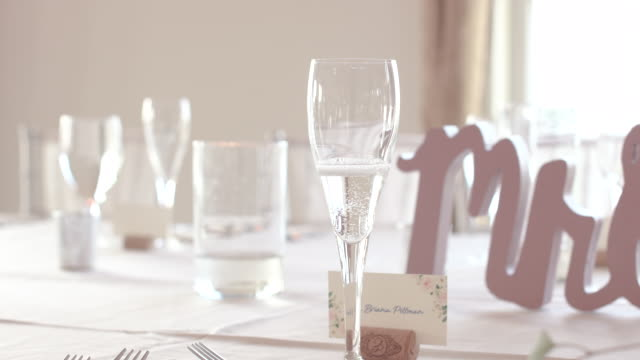 Champagne Flute at Wedding Reception