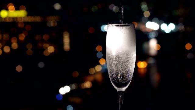 champagne glass video