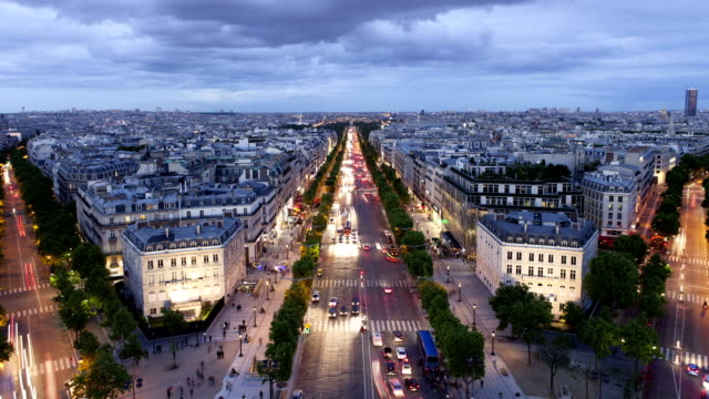 Champs-Élysées Night Time Lapse in Paris France video