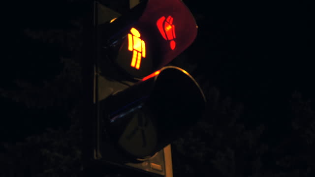 Changeable traffic lights in city