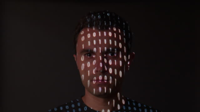 Changing binary data on a man's face