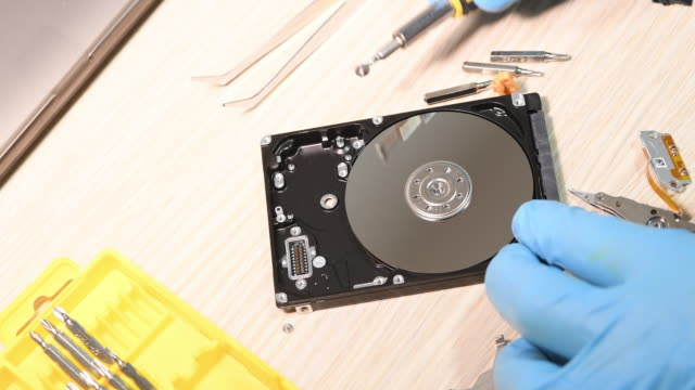 Changing disc reader and data recovery process