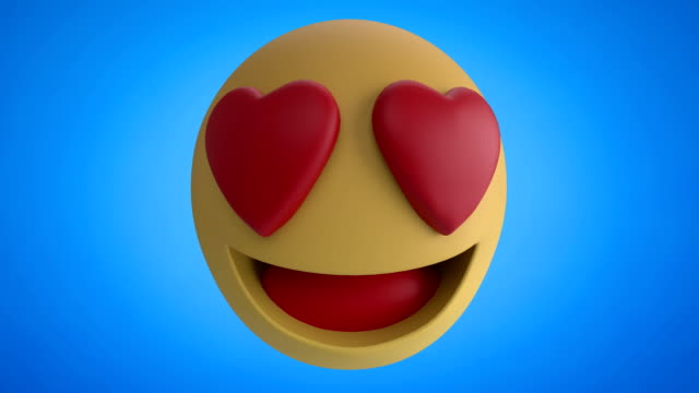 ändern von emoji-symbolen auf blauem hintergrund 4k - smiley stock-videos und b-roll-filmmaterial