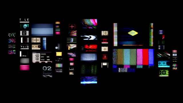 changing television screens video
