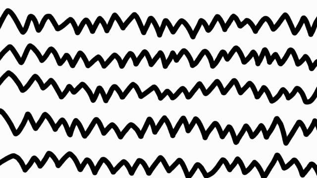 caotico scarabocchio scarabeo modello loop. linee disordinate animazione grafica. texture di sfondo decorazione digitale. - scarabocchio motivo ornamentale video stock e b–roll