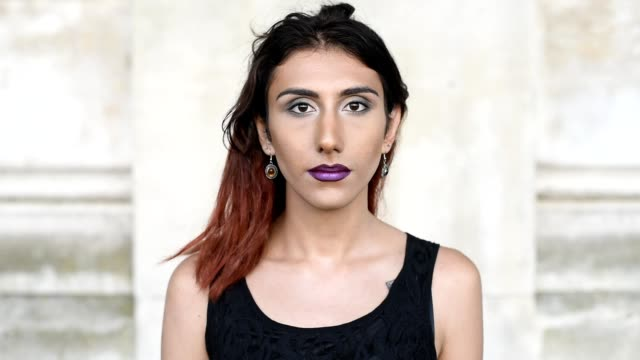 Character portrait of a young transgender female Portrait of an attractive young transgender female looking to camera transgender stock videos & royalty-free footage