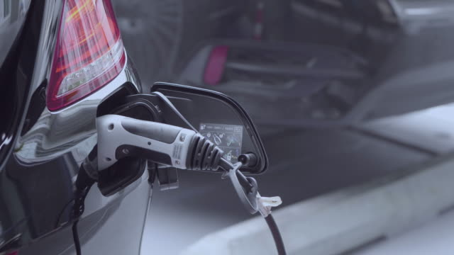 Charging An Electric Car video