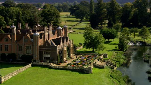 Charlecote Park - Aerial View - England, Warwickshire, Stratford-on-Avon District, United Kingdom