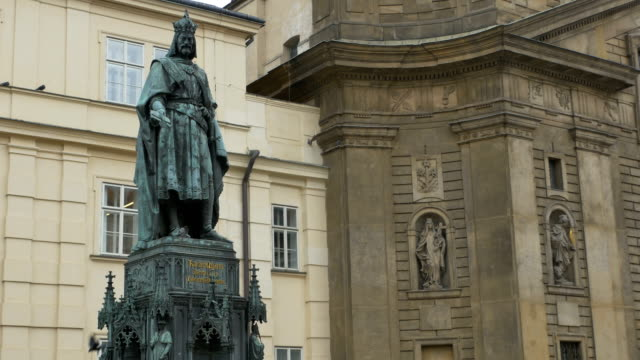 Charles IV Statue in Prague video