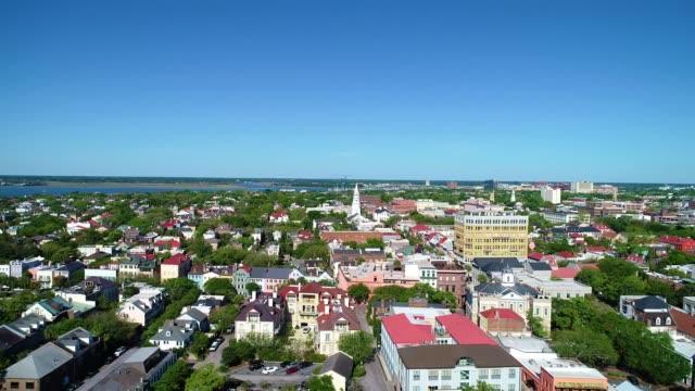 Charleston South Carolina USA Drone Skyline Aerial