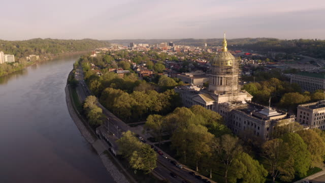 Charleston West Virginia State Capitol Building Kanawha River
