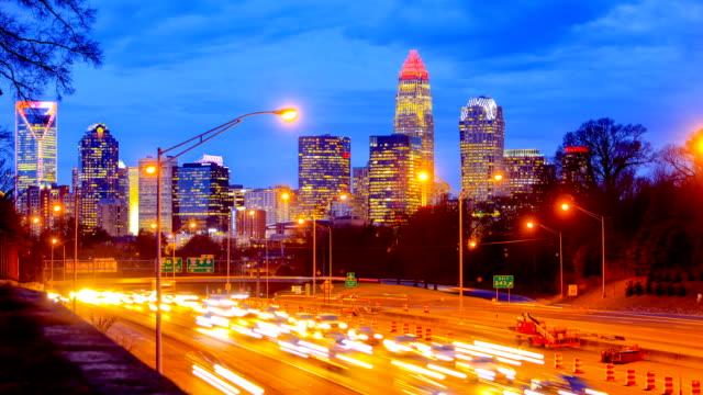 ノースカロライナ州シャーロット - 州間高速道路点の映像素材/bロール