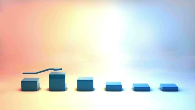 stockvideo's en b-roll-footage met 3d-grafiek - geld verdienen