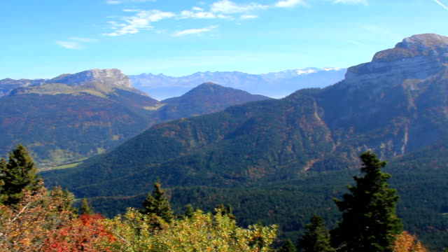 Chartreuse mountain Range in autumn video