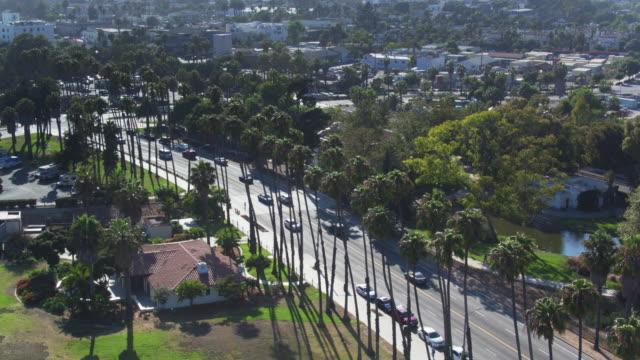 Chase Palm Park, Santa Barbara - Aerial Shot video