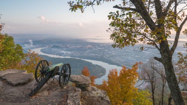 chattanooga, tennessee, lookout mountain abd görünümü - mountain top stok videoları ve detay görüntü çekimi