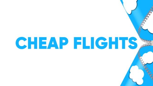 billigflüge. reise- und tourismuskonzept-banner. - reisebüro stock-videos und b-roll-filmmaterial